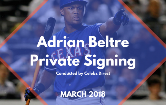 Adrian Beltre Spring Training 2018 Private Signing